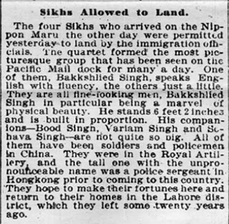 From: San Francisco Chronicle, 6 April 1899.