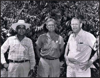 Wilbur Ranch (from left: Bawa Singh, George (Bud) Johnson, Richard R. Wilbur)