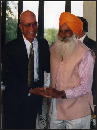 Gurpal Singh Bains (immigrated 1948) and Mehar Singh Tumber (1949)
