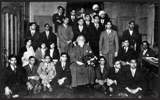 Noble laureate Tagore, with Indian Students at Berkeley University