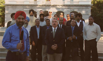Sikhs with Assemblyman Dan Logue