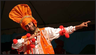 Bhangra dancer at Punjabi American Festival