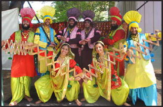 University of California, Davis students performing at Punjabi American Festival