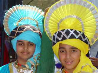 Traditional Bhangra attire